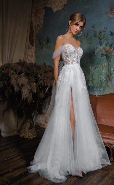 Свадебное платье из шифона