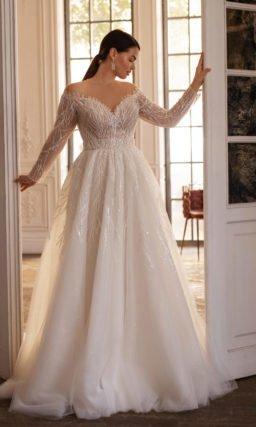 Свадебное платье с красивым декольте
