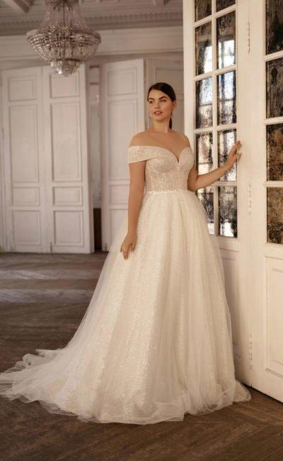 Сверкающее свадебное платье большого размера