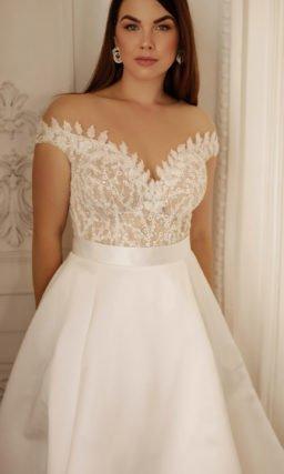 Свадебное платье с чуть завышенной талией