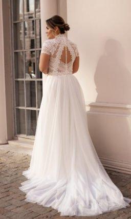 белое свадебное платье большого размера