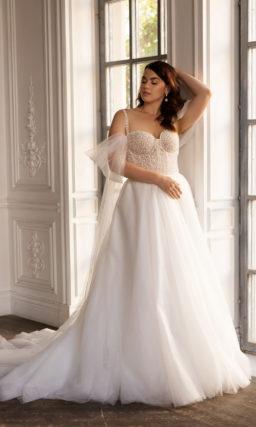Свадебное платье с принтом в горох