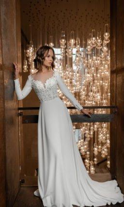 Свадебное платье из крепа