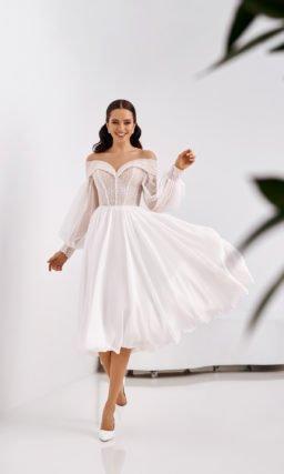 Свадебное платье в оттенке слоновой кости