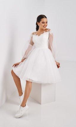 Короткое молодежное свадебное платье
