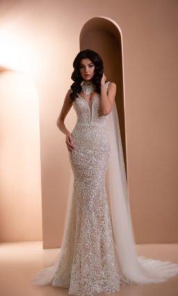 Кружевное платье -русалка свадебное