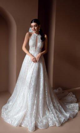 Свадебное платье с серебристым напылением