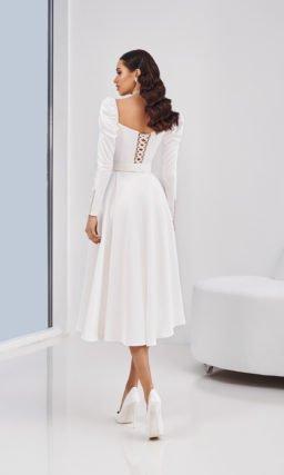 Короткое винтажное свадебное платье