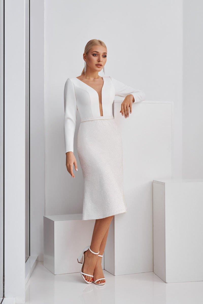 Короткое свадебное платье современное