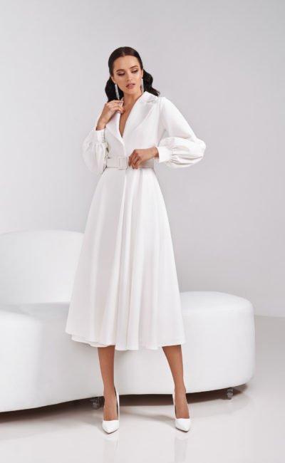 Свадебное платье-пальто
