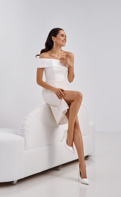 Короткое свадебное платье mini