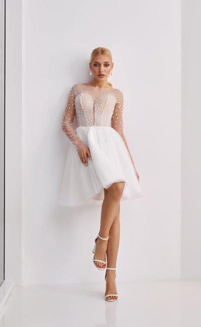 Летнее легкое свадебное платье