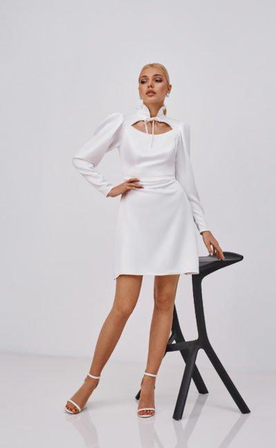 Дизайнерское короткое платье свадебное