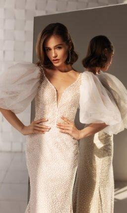 Платье русалка со съемной верхней юбкой