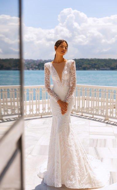 Ажурное платье русалка с рукавами