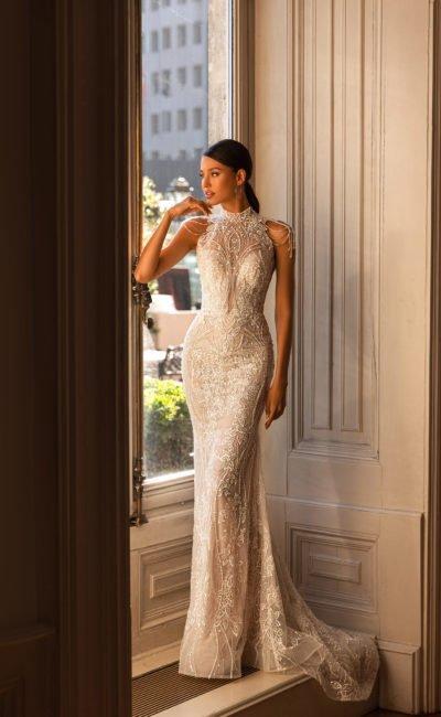 Красивое платье рыбка свадебное