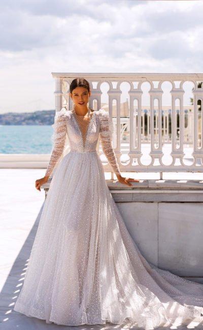 Свадебное платье с красивыми рукавами