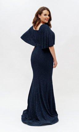 Темно-синее платье-русалка