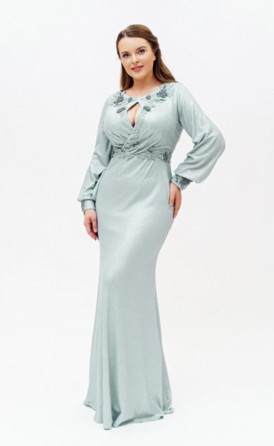 Платье-русалка с рукавами