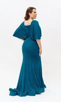 Длинное платье русалка с широкими рукавами